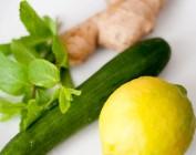 Система похудения на основе имбиря, лимона и огурцов