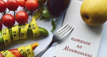 Диета Монтиньяка — меню на неделю, рецепты и отзывы