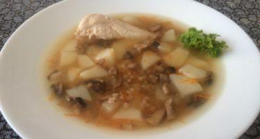 ПП-суп с гречкой и грибами